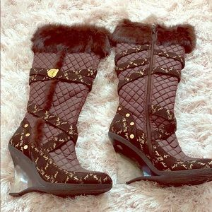 Baby Phat Faux Fur knee boots